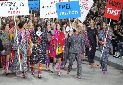Gisele Bundchen, Kendall Jenner, Cara Delevingne march at Chanel's feminist rally