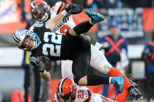 Panthers' McCaffrey sets franchise mark for scrimmage yards