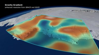 Antarctic ice loss responsible for measurable shift in gravity