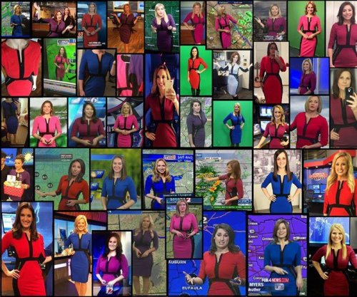 Viral photo shows 50 meteorologists wearing the same dress