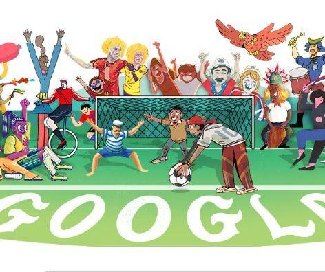Google Doodle celebrates opening of the World Cup