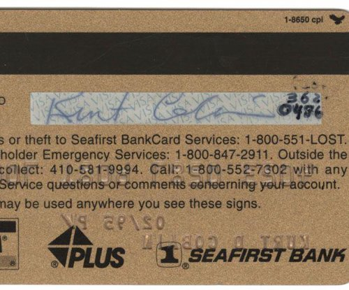 Kurt Cobain's credit card hits the auction block