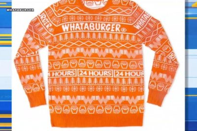 Whataburger unveils official Christmas sweater