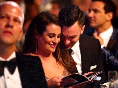 Lea Michele makes first public appearance with Matthew Paetz at amfAR gala