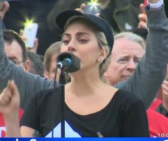 Lady Gaga leads LA vigil for Orlando club victims