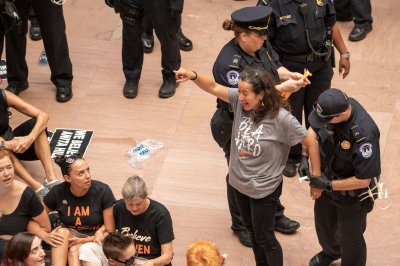 Hundreds arrested in protests against Kavanaugh's confirmation