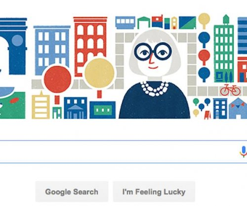 Google honors Jane Jacobs' 100th birthday with Doodle