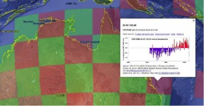 Researchers put global temperature records in Google Earth interface
