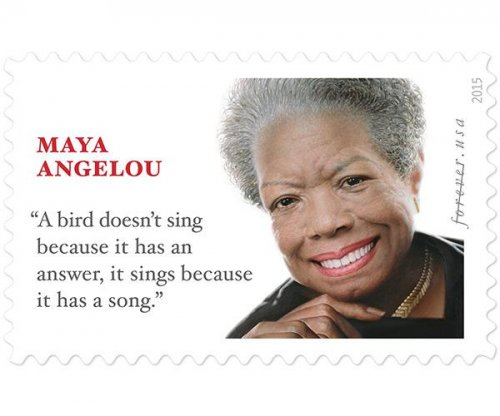 Maya Angelou featured on the new Forever stamp