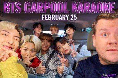 BTS to join James Corden for Carpool Karaoke