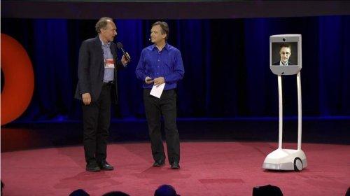 Edward Snowden makes surprise TED visit