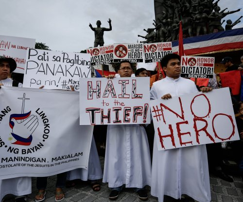Heroes burial for former Philippine dictator Ferdinand Marcos draws protests