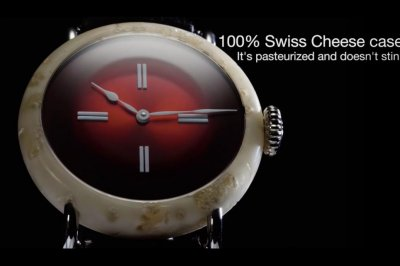 $1M '100 percent Swiss Made' watch made of real Swiss cheese