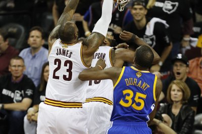 Cleveland Cavaliers' LeBron James had the dunk of all dunks Friday night