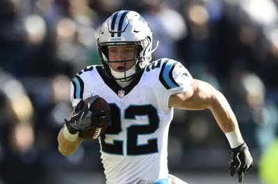 Carolina Panthers' Christian McCaffrey sets running back reception record