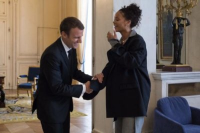 Rihanna meets with French president Emmanuel Macron about education