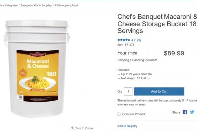 Look:-27-pound-bucket-of-macaroni-and-cheese-for-sale