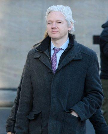 Julian Assange appears via Skype at M.I.A. concert