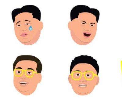 Kim Jong Un emojis parody Kim Kardashian's app on iTunes