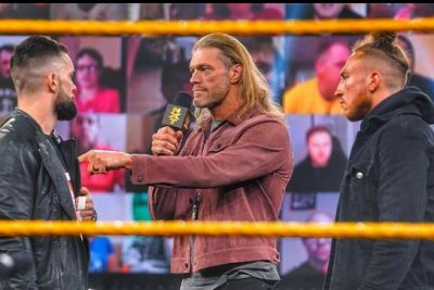 WWE NXT: Edge confronts Finn Balor and Pete Dunne