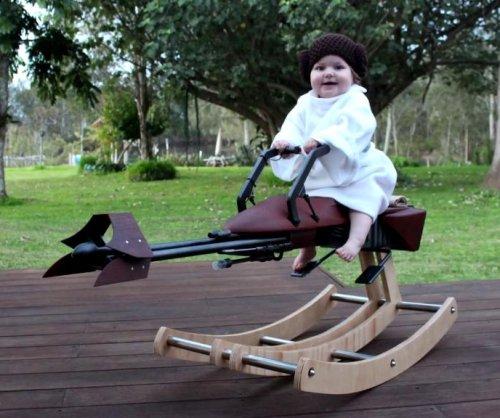 Australian dad builds baby a 'Return of the Jedi' 'rocking speeder bike'
