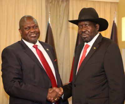 South Sudan president again names rebel as deputy in power-sharing agreement