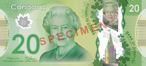 Canada unveils new polymer $20 bill