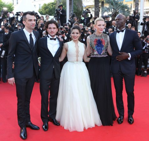 Notorious prankster dives under America Ferrera's dress on Cannes red carpet