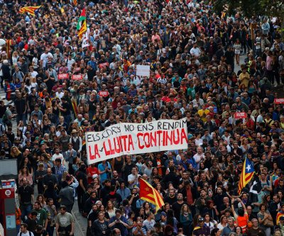 Catalonia protests: President calls for talks with Spain
