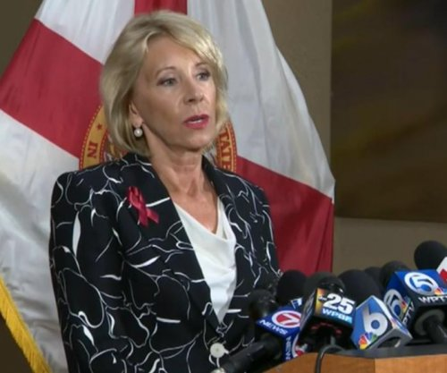 Education chief DeVos visits Parkland high school on first full day since shooting