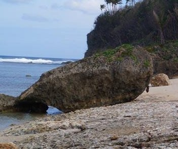 Supertyphoon moved 177-ton boulder 150 feet