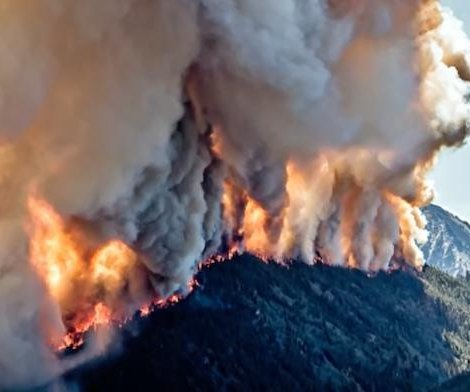 Storms near Montana wildfire pose potential threat to firefighters, officials say