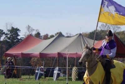 Medieval re-enactor impales self with spear during performance
