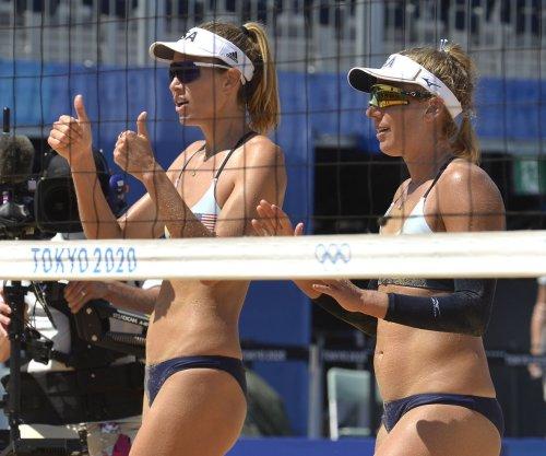 Olympics: U.S. beach volleyball's April Ross, Alix Klineman top Germany, reach semis