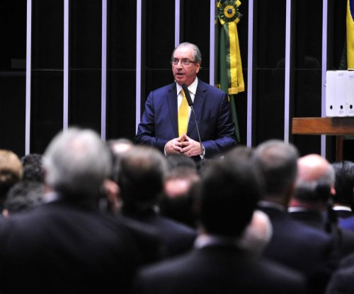 Brazil's ex-speaker Eduardo Cuhna arrested in bribery investigation