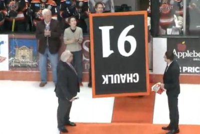 Hockey stadium apologizes for upside-down retirement banner ceremony