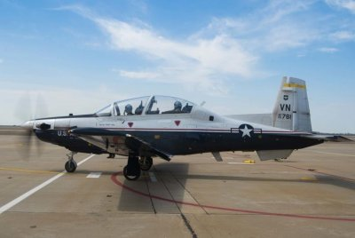 Pilots safely eject from Air Force T-6 trainer before crash