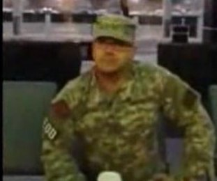 Fake Army soldier confronted on camera at airport