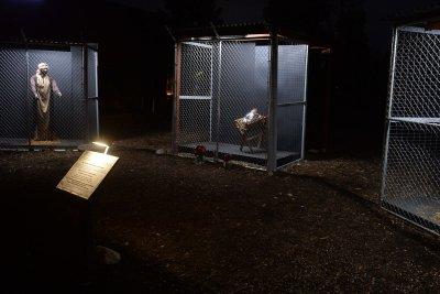 LA-area Nativity scene shows Jesus, Mary, Joseph in cages at border