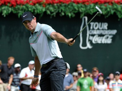 Watch: Rory McIlroy hits ball into fan's pocket at Tour Championship