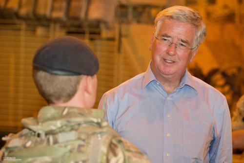 British Defense Secretary Fallon announces expanded role for troops in Iraq