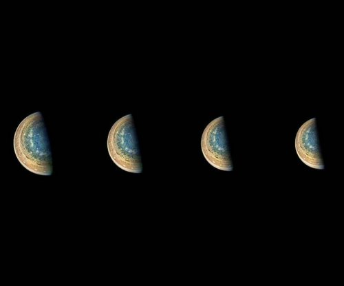 NASA shares time-lapse photo of Jupiter's south pole