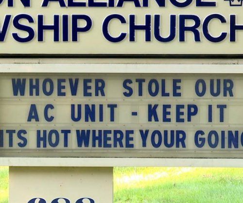 Church claps back at AC thieves: 'It's hot where you're going'
