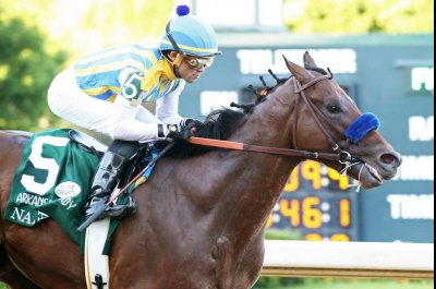 Baffert colts sweep Arkansas Derby divisions