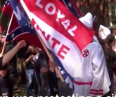 KKK rally outnumbered by counterprotesters