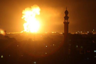 Israel, Gazans exchange airstrikes, rockets; IDF blames Iran