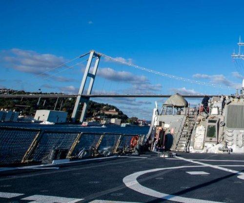 U.S. Navy destroyer USS Porter in Black Sea, stops for port call in Ukraine