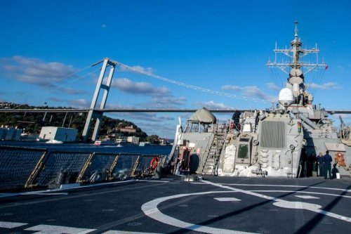 U.S. Navy destroyer USS Porter in Black Sea, stops for port call in Ukraine