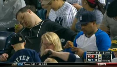 Man who was shown on ESPN sleeping during baseball game files defamation suit