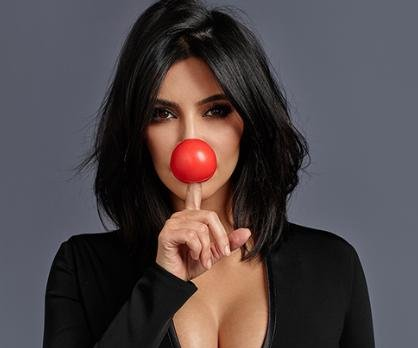 Kim Kardashian and other stars show their support for Red Nose Day